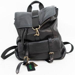 Coach Black Bleecker Mens Leather Backpack - 86929